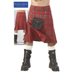 Schottenrock für Männer mit Umhängebeutel