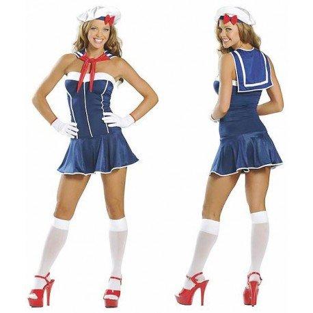 Costume bustier de marin, matelote de marine femme !