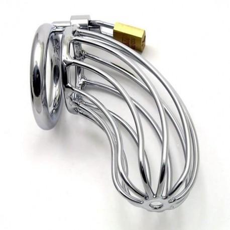 Keuschheitsgürtel aus Stahlrohr + Sicherungsring für Hoden