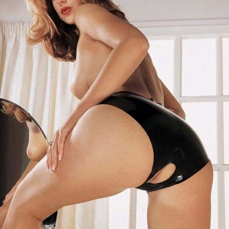 Culotte en latex fendue