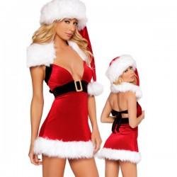 Weihnachtsfrau-Nachthemd: Mit freiem Rücken & tiefem Ausschnitt