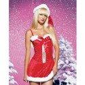 Sexy Weihnachtsfrau-Nachthemd mit Trägern