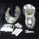 Keuschheit Polycarbonat + Vorhängeschloss Ring Hoden / Typ: CB6000