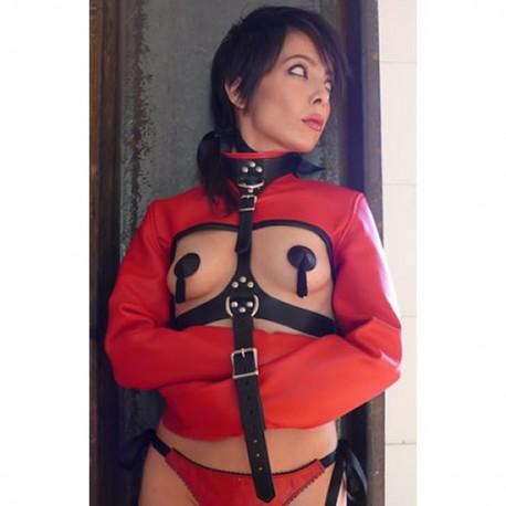 Camisole de force SM rouge - réglable