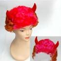 Perruque et cornes : Diablesse sexy rouge