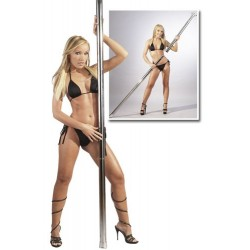Verchromte Pole Dance Stange, ohne Schrauben, abnehmbar
