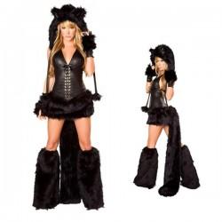 Kostüm, Katzen-Verkleidung aus Pelz
