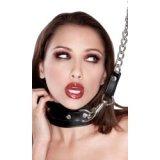 SM-Leder-Halsband mit Kettenleine - Domination / Versklavung