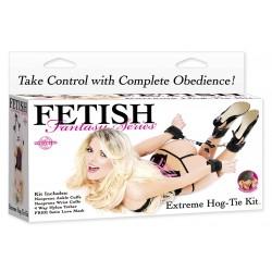 Extrem-Set Hog-Tie: 4 Klettverschluss-BDSM-Fesseln