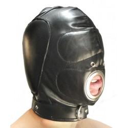 BDSM-Ganzkopfmaske - Mundöffnung zum Blasen