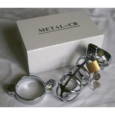 Keuschheitskäfig: CB 3000 – Rostfreies Metall – Durchbrochen