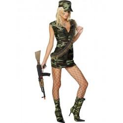 Kostüm - Sexy Armee-Soldatinnen-Kleid für Frauen