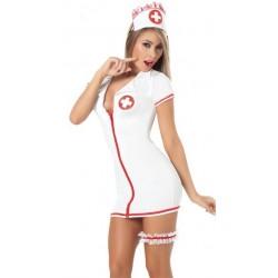 Kostüm: Krankenschwester-Kleid, ultra hauteng & sexy