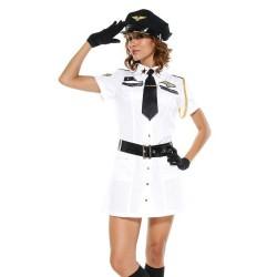 Sexy Kostüm - Flugzeugkapitänin