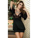 Clubwear Kleid - Sexy Brustbereich aus Spitze