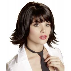 Sexy Perücke: Kurze, schwarze Haare