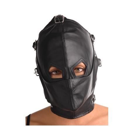 SM-Ganzkopfmaske - Maulkorb und Augenmaske abnehmbarer