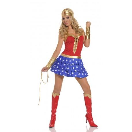 Verkleidung - Sexy WonderWoman Kleid