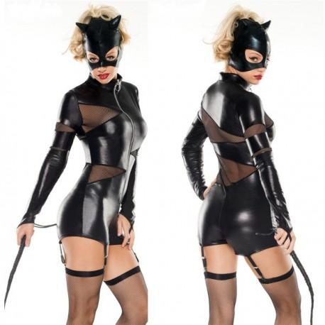 Domina-Kätzchen-Kostüm - CatWomen