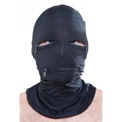 Ganzkopfmaske aus Elasthan - Augen & Mund mit Reißverschluss