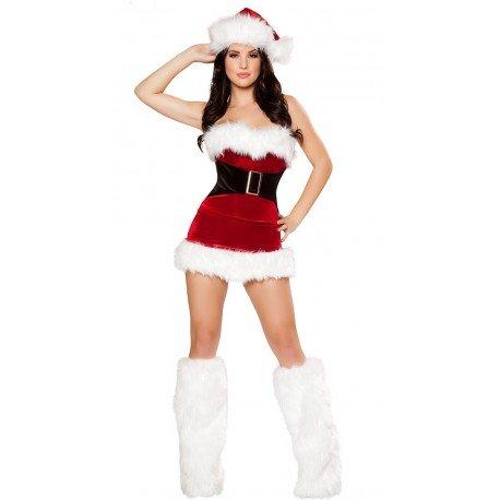 Korsett-Kleid als sexy Weihnachtsfrau (komplett)