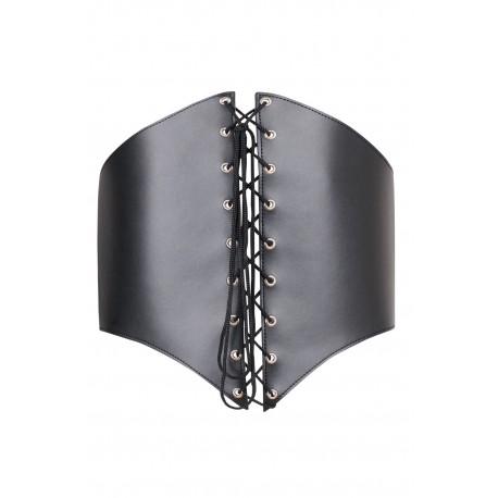 SM-Korsett aus schwarzem Silikon