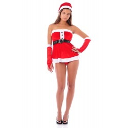 Sexy Weihnachtsnachthemd - mit Accessoires