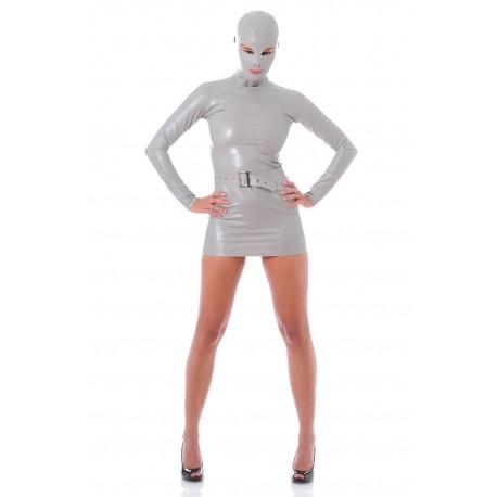 Graues Latex-Kleid Zentai James Bond Girl