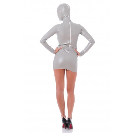Graues Latex-Kleid Zentai James Bond Girl
