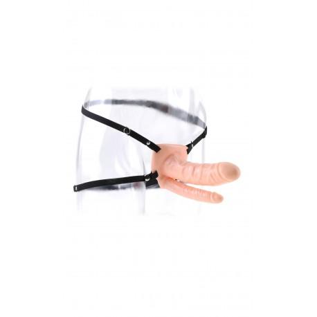 Doppel-Dildo als vibrierender Unisex-Gürtel