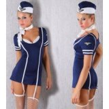 Stewardess-Kostüm Sexy Stewardess