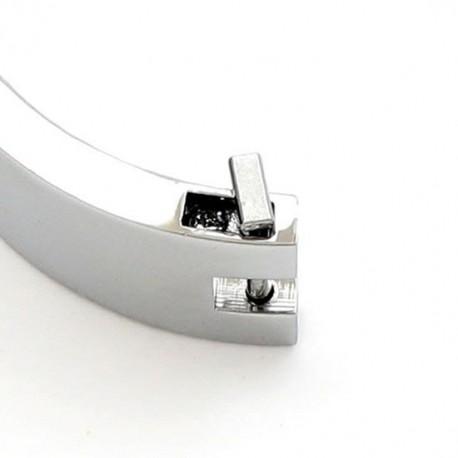 Verchromtes BDSM Halsband mit Magnet-Verschluss zur Unterwerfung