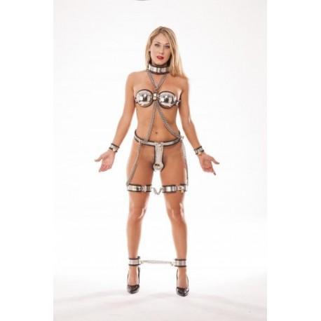 Ultimate Chastity - Set aus 7 Teilen mit Keuschheitsgürtel