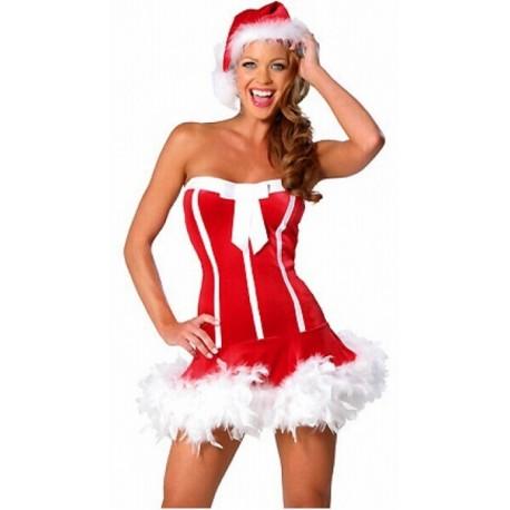 Sexy Bustierkleid - Weihnachtsfrau