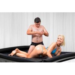 Nuru - Laken aus Latex Vinyl & aufblasbaren Rändern ideal für Massage Spiele - Wet Games
