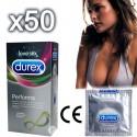 Packung mit 10 oder 50 Durex Performa Kondomen – Verzögern die Ejakulation