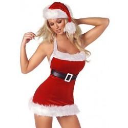 Sexy Weihnachtsfraukostüm: Weihnachtskleidchen