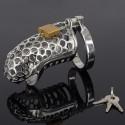 Snake Head - Keuschheitskäfig aus Metall - Schlangenkopf