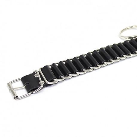 BDSM-Halsband zur Versklavung: The Loop - Leder und Metall