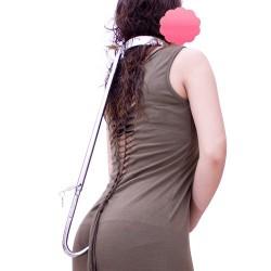 Hold the line - Collier zur Bewegungseinschränkung mit Analhaken BDSM