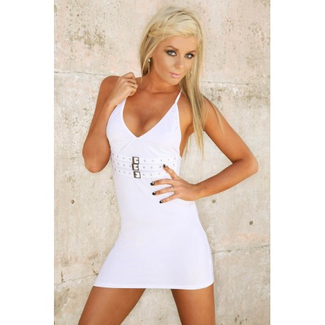 Abendkleid Clubwear: Ultra White