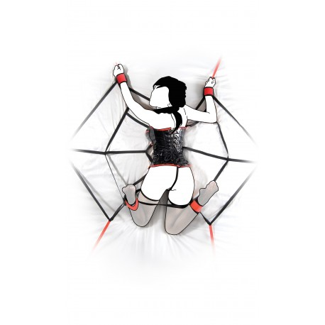 SM-Fesseln: Spinnennetz fürs Bett