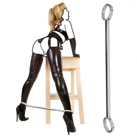 BDSM-Spreizstange mit Fußeisen aus der Edelstahl-Luxus-Serie