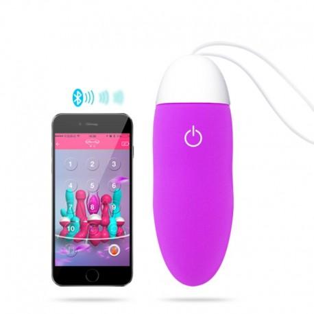Vibrierendes Ei Sextoy Kontrolliert bluetooth + Anwendung Smartphone