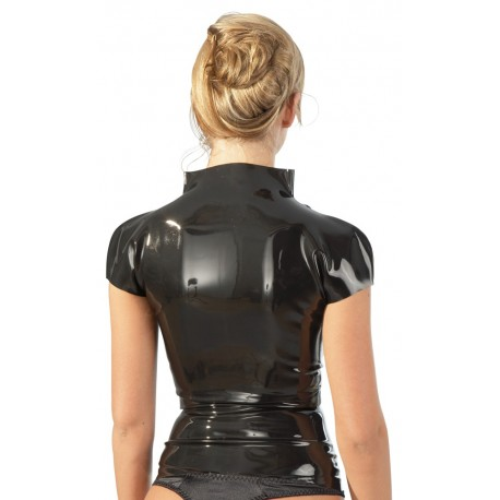 T shirt zippé femme cintré - 100% Latex