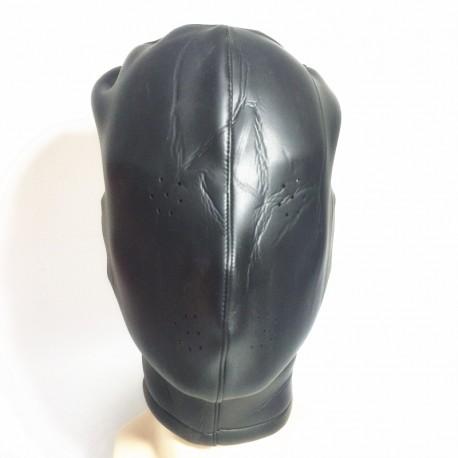 Cagoule Bondage - néoprène totalement opaque avec trous respirations