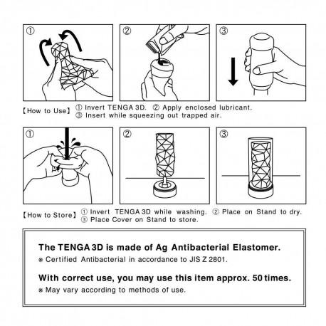 Tenga Masturbator - 3D Dreiecksstapel