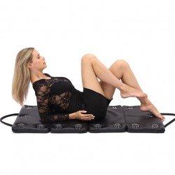 Gesteppte Reisetasche aus Leder für Bondage SM