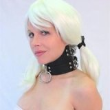Hoch geschnittenes BDSM-Lederhalsband zur Versklavung