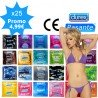 Packung gemischter Kondome - 25 Sorten Durex & Pasante